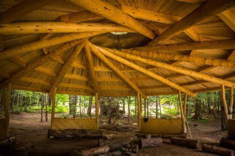 timber framed pavilion finished