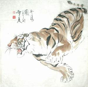 Chinese Painting: Tiger - Chinese Painting CNAG235015 ...