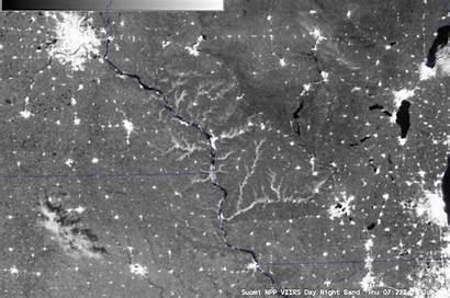 Fog Viirs Night Band Noaa Satellite River