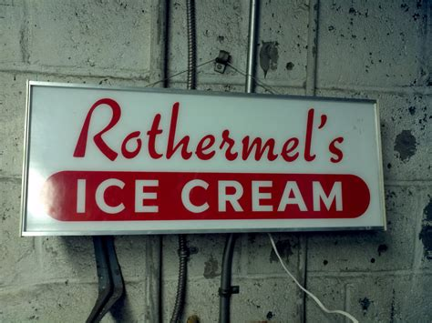 Vintage Rothermals Ice Cream Sign « Obnoxious Antiques