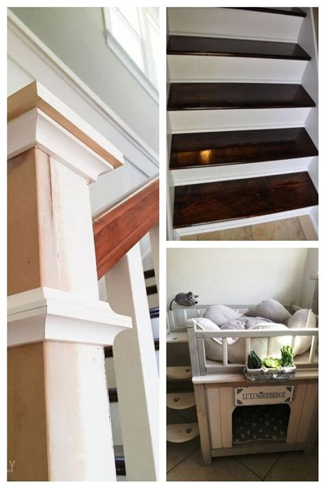 Farmhouse Newel Post Makeover Stairs Makeover FARMHOUSE Makeover newel post #sta Stairs Makeover ...