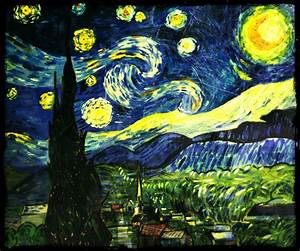 Starry Night Painting By Me Tribute To Vincent Van Gogh On