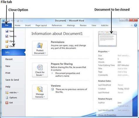 closing  document  word