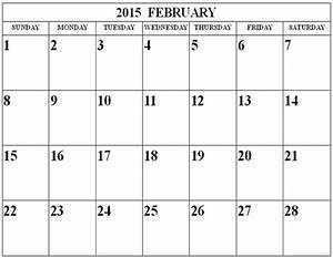 download february 2015 calendar printable template With calendar template for february 2015