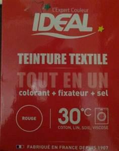 Teinture Ideal Tout En Un : id al teinture textile tout en un rouge la boite de 350 ~ Dailycaller-alerts.com Idées de Décoration
