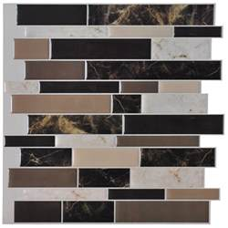 Stick On Kitchen Backsplash Tiles Self Adhesive Backsplash Tiles For Kitchen Peel N Stick Tile 9 5 Sq Ft