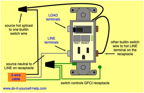 Wiring Diagram For Gfci by Gfci Switch Outlet Wiring Diagrams Do It Yourself Help