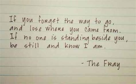 The Fray Quotes From Song Lyrics