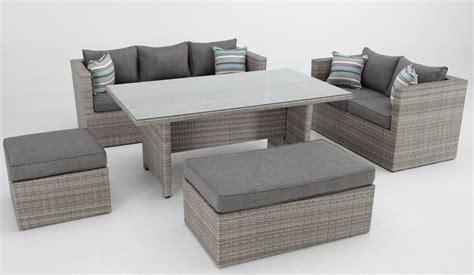 sofa terraza rattan set sofas de terraza con mesa de comedor rattan carmel