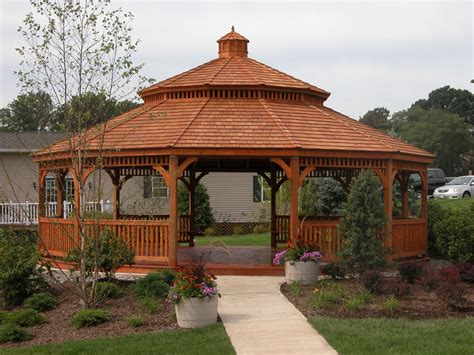 gazebo wooden wood gazebos backyard beyond