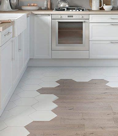 carrelage hexagonal  parquet kitchen flooring
