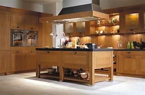 photo decoration cuisine rustique melange contemporain With idee deco cuisine avec cuisine rustique