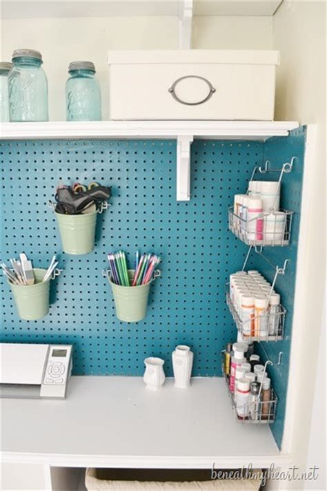 pegboard accessories for office craft closet makeover beneath my heart