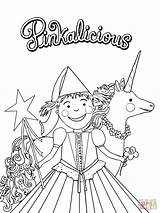 Pinkalicious Coloring Pages Fancy Nancy Printable Birthday Printables Purplicious Pink Crafts Sheets Supercoloring Colouring Paper Unicorn Drawing Templates Cartoon Books sketch template