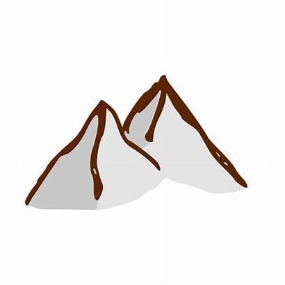 Mountain Cartoon Mountains Map Clipart Symbols Clip