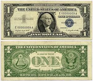 1957a 1 Silver Certificate S N F 00000009 A Kalvin Jack