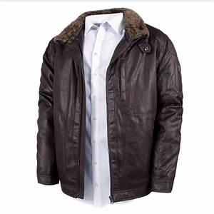 Blouson Grande Taille Homme : blouson simili cuir marron grande taille du 3xl au 8xl s4 ~ Medecine-chirurgie-esthetiques.com Avis de Voitures