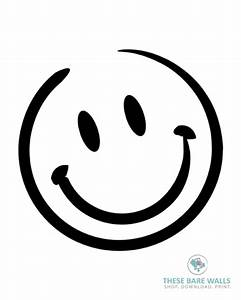 Smiley Face Printable Wall Art   These Bare Walls