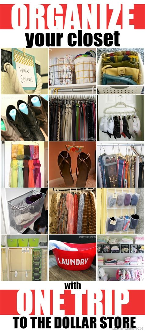 organize your closet with one trip to the dollar store