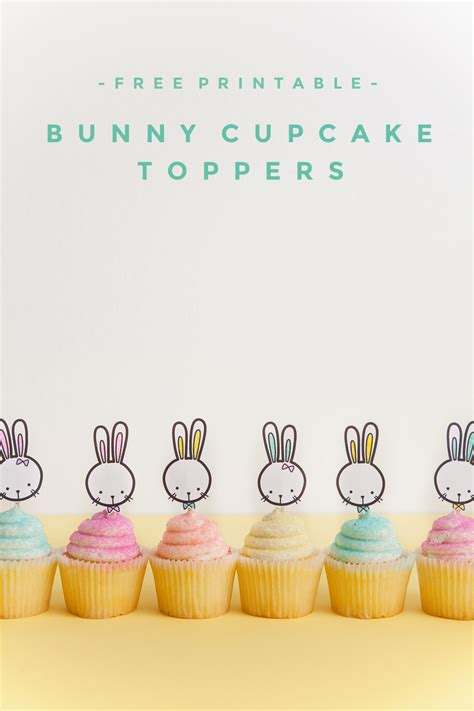 printable bunny cupcake topper  love  party