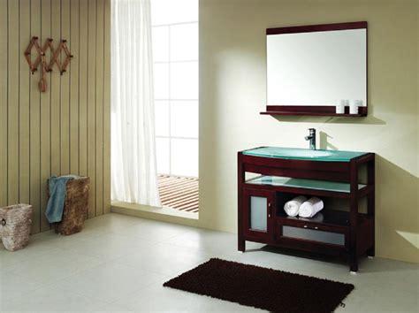 Dark Wood Menards Bathroom Vanity With Turquoise Top