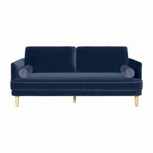 Sofa Samt Blau : arrolo 3 sitzer sofa aus samt blau habitat ~ Michelbontemps.com Haus und Dekorationen