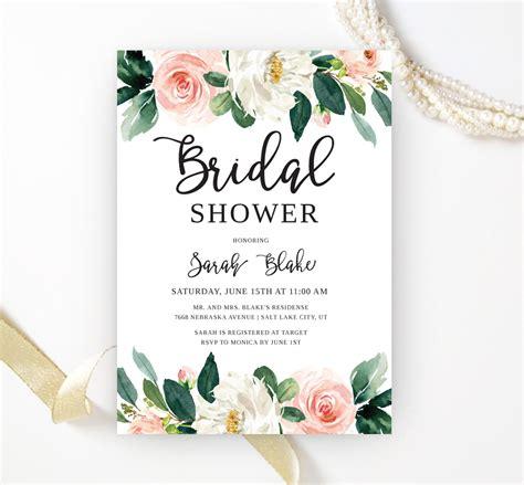 Evites Bridal Shower - floral bridal shower invitations lemonwedding