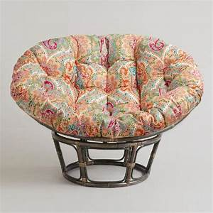 Venice papasan chair cushion world market for Outdoor furniture covers world market