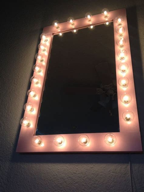 table top mirror with lights custom lit quot pretty n pink quot vanity make up table top light