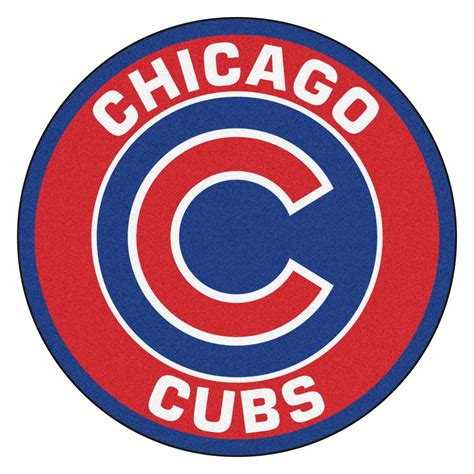 Real Tree Camo Wallpaper Chicago Cubs Logo Roundel Mat 27 Quot Round Area Rug