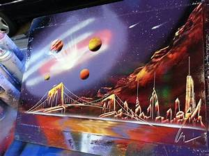 GALAXY Spray Paint Art Space Painting