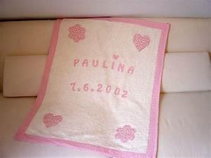 Babydecke Mit Namen Und Geburtsdatum : hochwertige babydecke rosa mit name und datum paulili ~ Buech-reservation.com Haus und Dekorationen
