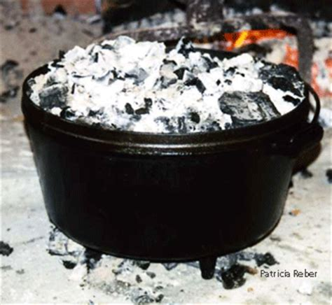 researching food history cooking  dining dutch oven iron  tin  brick