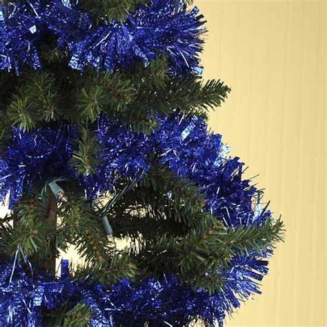 royal blue tinsel garland  feet christmas garlands