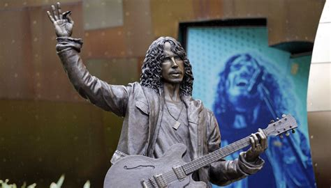 life size chris cornell statue unveiled  seattle