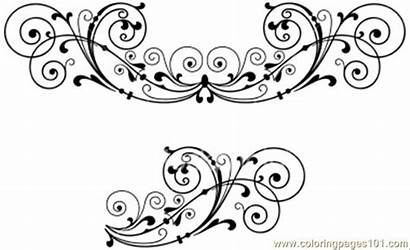 Decoration Decorations Coloring Scroll Pages Printable Corner