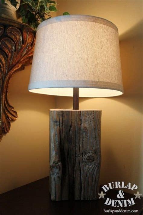 diy wooden stump lamp nice idea  drill  hole