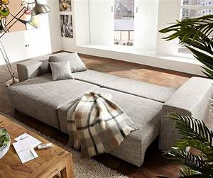 L Sofa Mit Schlaffunktion : couch marbeya hellgrau 290x110 cm mit schlaffunktion big sofa ~ Frokenaadalensverden.com Haus und Dekorationen