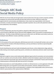social media policy templates download free premium With social media guidelines template