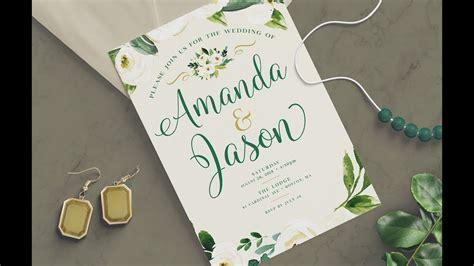photoshop tutorial   create  wedding invitation
