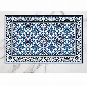 Tapis Carreaux De Ciment Vinyl : tapis cuisine vinyle ~ Teatrodelosmanantiales.com Idées de Décoration