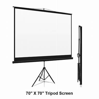 Projector Screen Tripod Portable Visual Audio