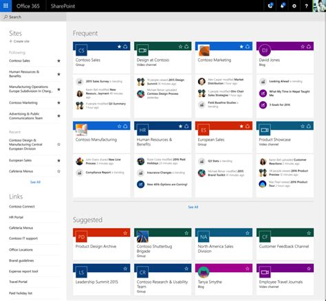 sharepoint site templates sharepoint 2016 home to your new intelligent intranet