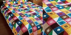 Kukka Bedspread Crochet Blanket DIY
