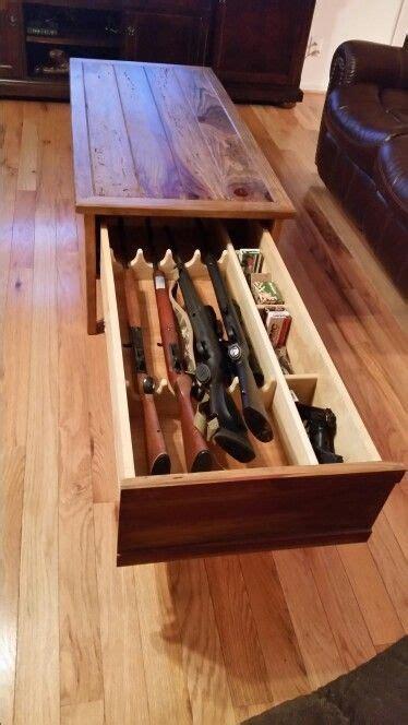 concealed gun coffee table gun storage pinterest
