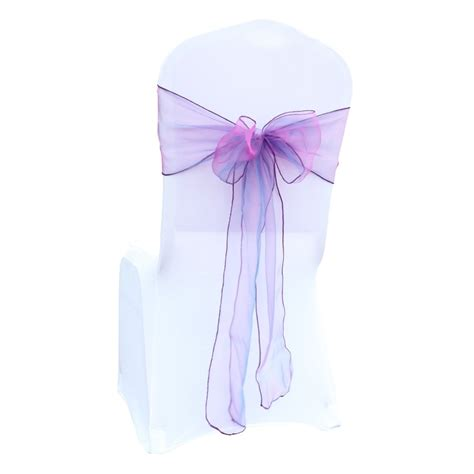 chair cover sashes organza material 10 pcs wedding sash wedding party decorations bow 30 color