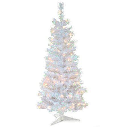 walnart 4 ft pre lit rose tinsel christmas tree 4 ft tinsel wrapped pre lit medium tree white walmart