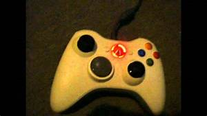 Red ring of death on xbox 360 controller rrod - YouTube
