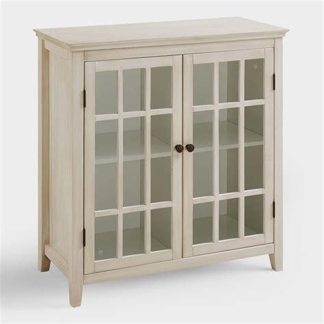 white storage cabinet with doors antique white double door storage cabinet world market