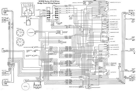 1963 Ford Truck Brake Light Wiring Diagram by 1969 S D W Series Dodge Truck Wiring Diagram Schematic